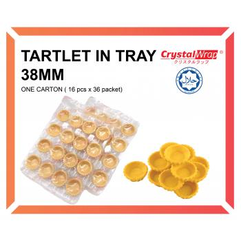 TARTLET IN TRAY 38MM (ONE CARTON)