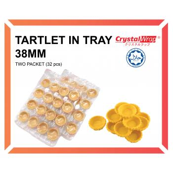 TARTLET IN TRAY 38MM (2 PACKET)
