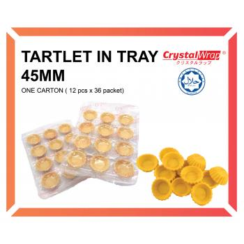 TARTLET IN TRAY 45 MM (ONE CARTON)