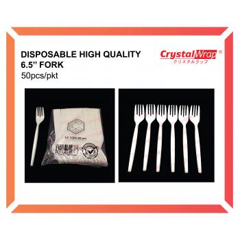 Disposable High Quality 6.5'' Fork